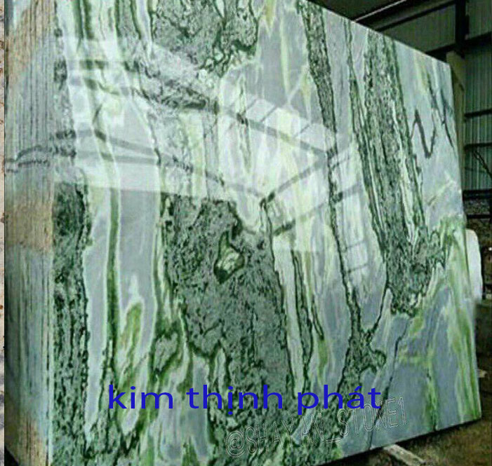 da hoa cuong marble sơn thủy trắng xanh